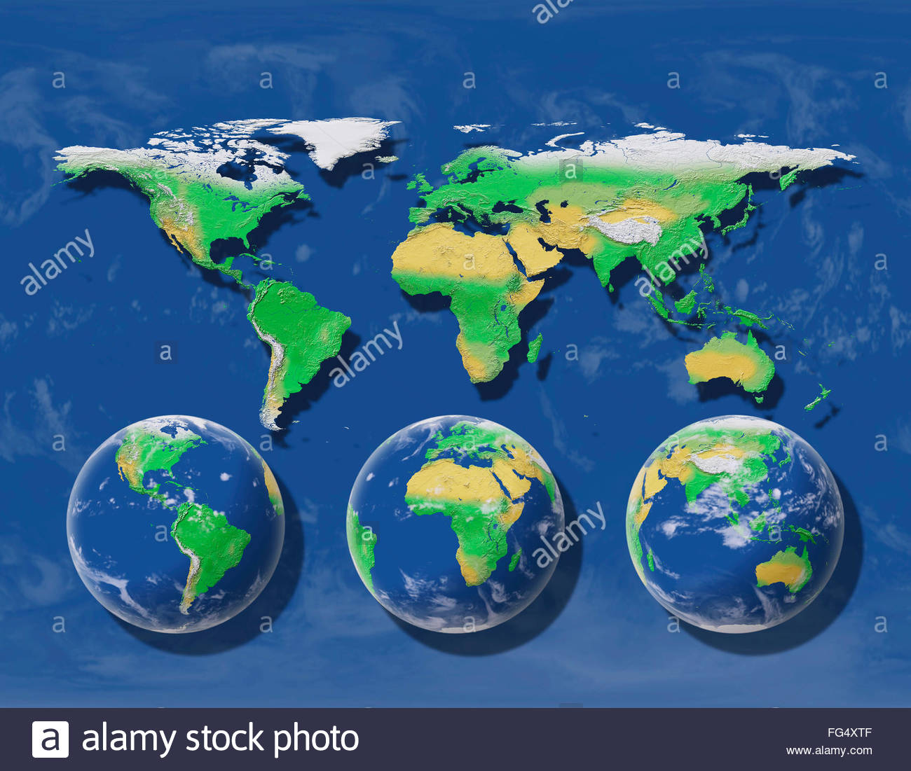 spherical-earth-projected-on-a-flat-map-