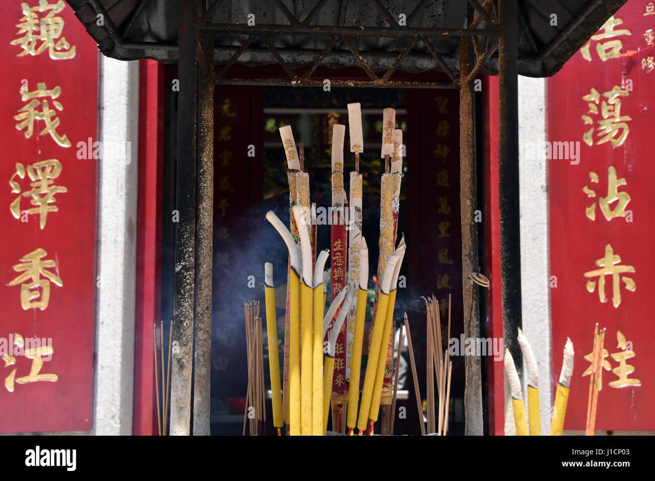 Incense at Temple, Hong Kong - Stock Image