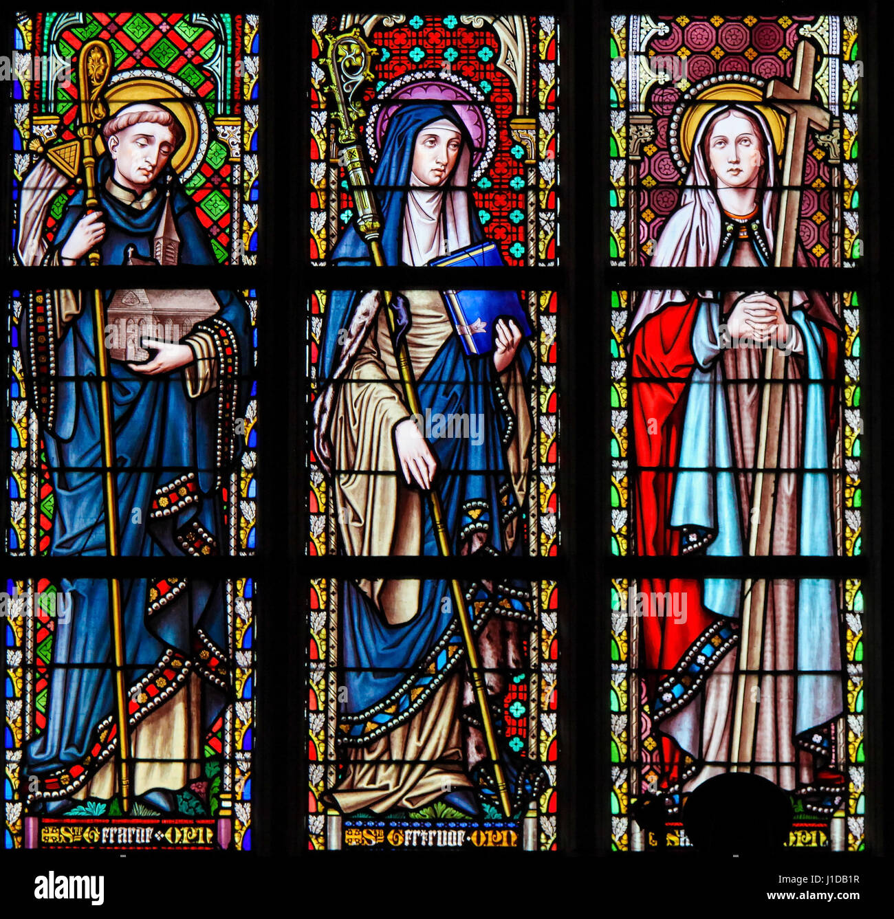 Stained Glass In Saints Church Stock Photos & Stained ... Chagall Brugge