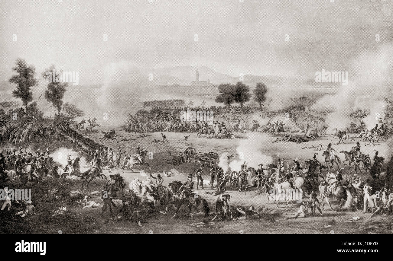 The Battle of Marengo, 14 June 1800, fought between French forces under Napoleon Bonaparte and Austrian forces near - Stock Image