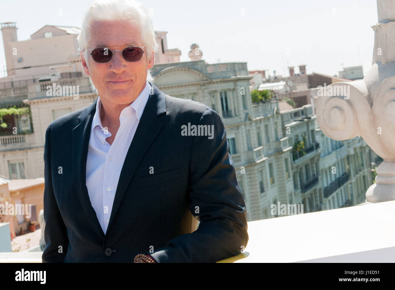 The american actor Richard Gere and film director Joseph Cedar  opens the first International Barcelona Film Festival - Stock-Bilder