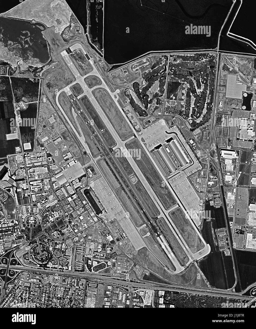 Declassified reconnaissance satellite view, taken by the Central Intelligence Agency's (CIA) Keyhole (AKA Corona - Stock Image