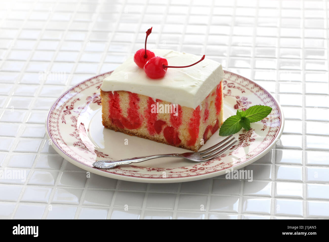 Chocolate Cherry Rolled Cake