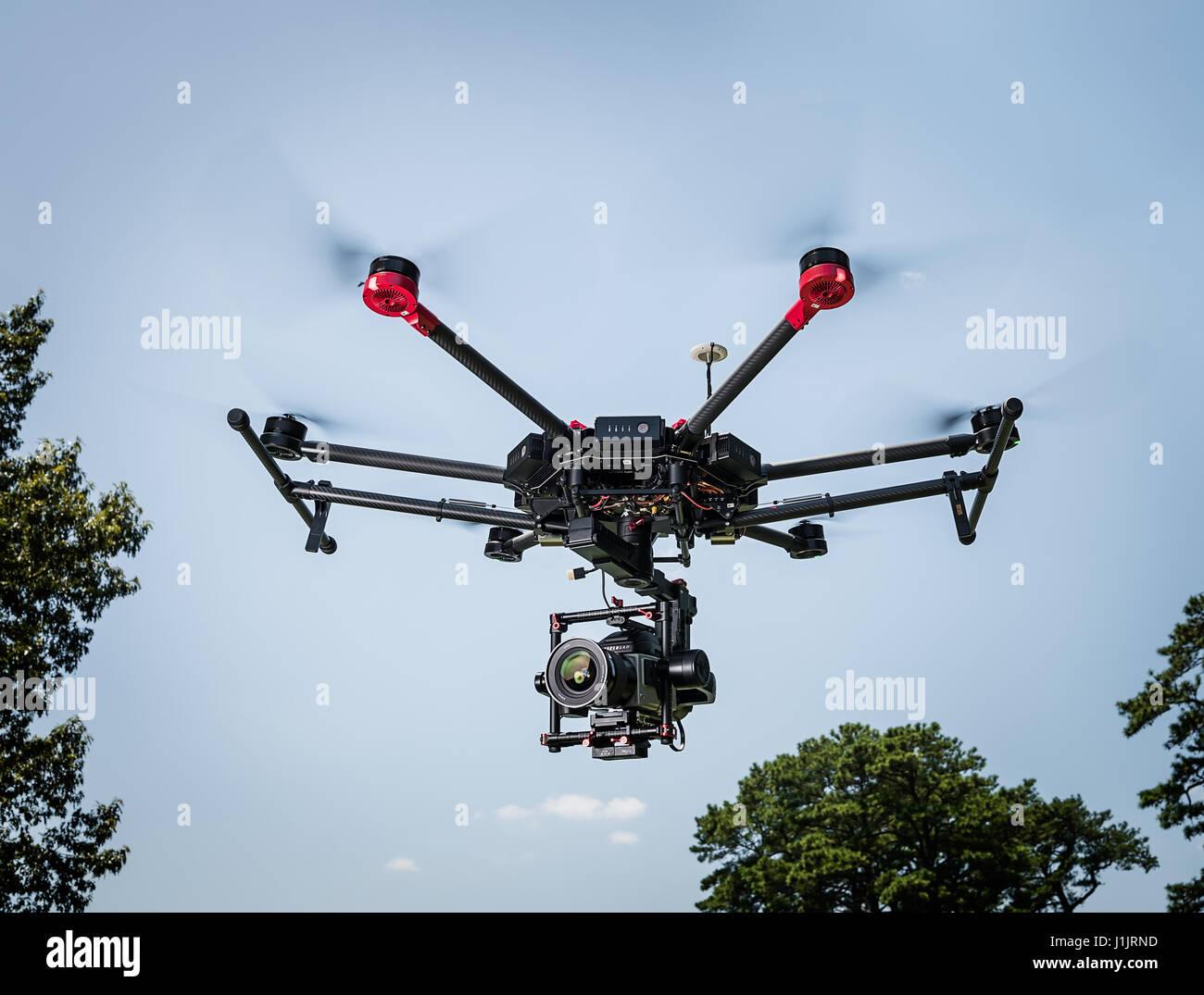 DJI Matrice 600 flying - Stock Image