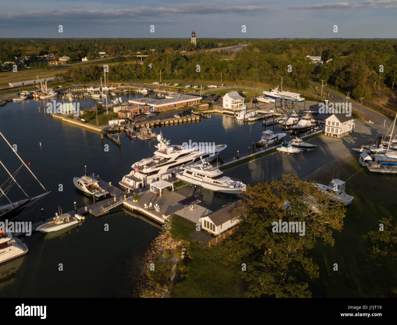 Yacht Club aerial - Stock Image