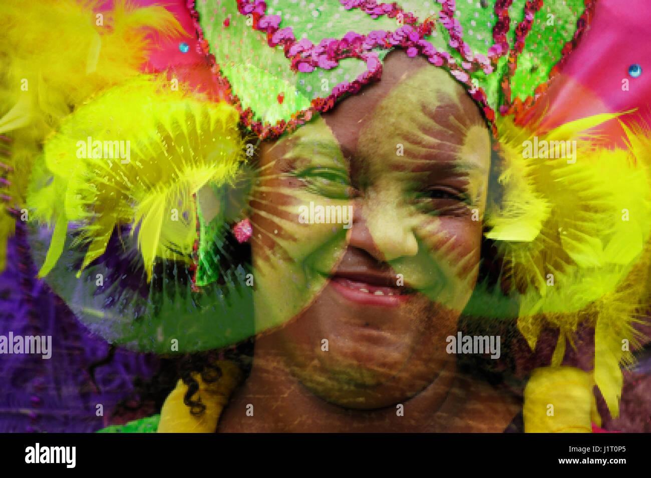 Double Exposure: Summer Carneval in Rotterdam - Stock-Bilder