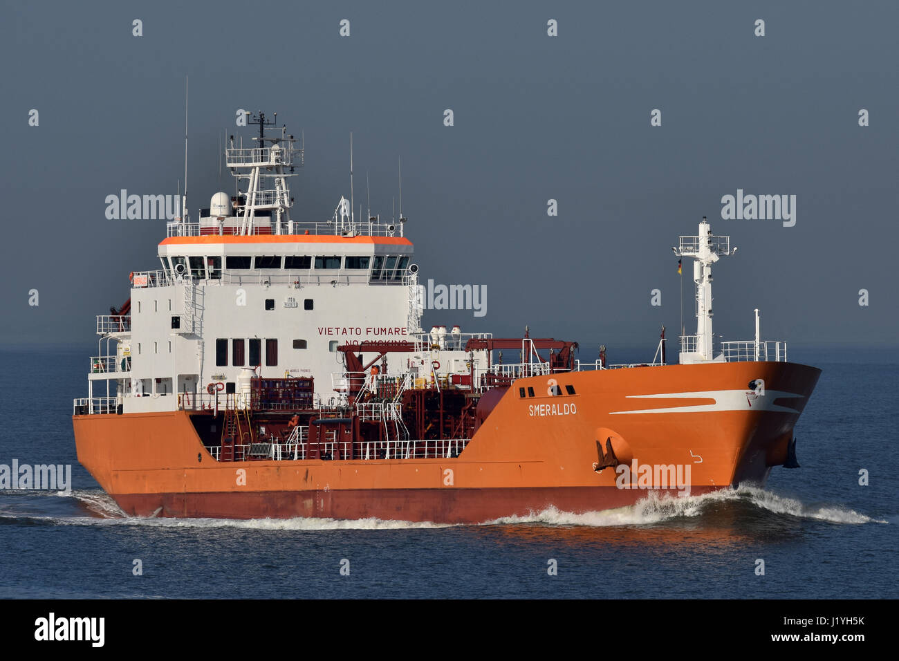 Smeraldo heading for Kiel Canal - Stock Image