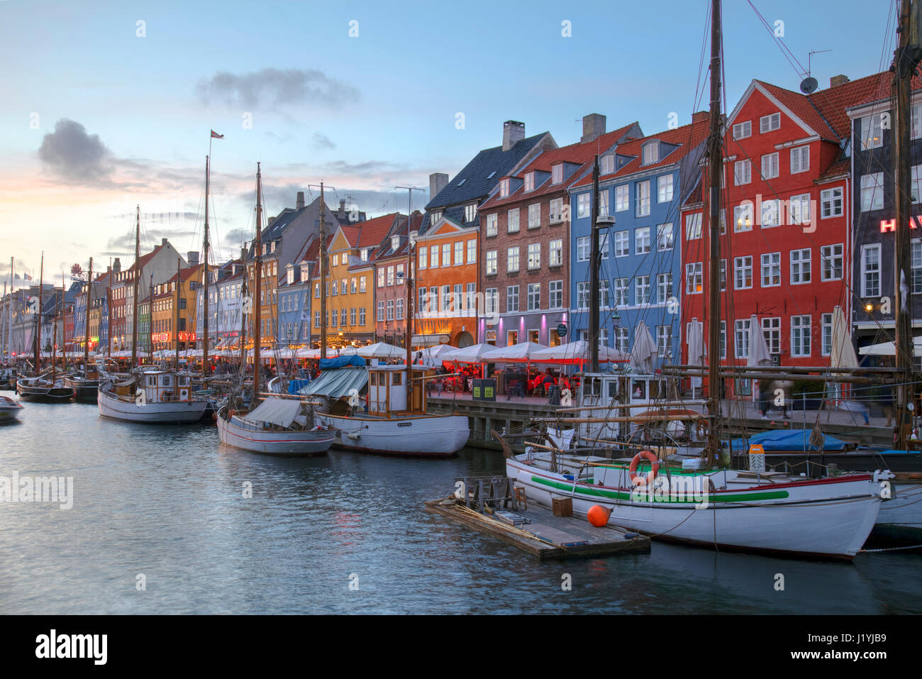 Nyhavn, Copenhagen, Denmark, Scandinavia - Stock-Bilder