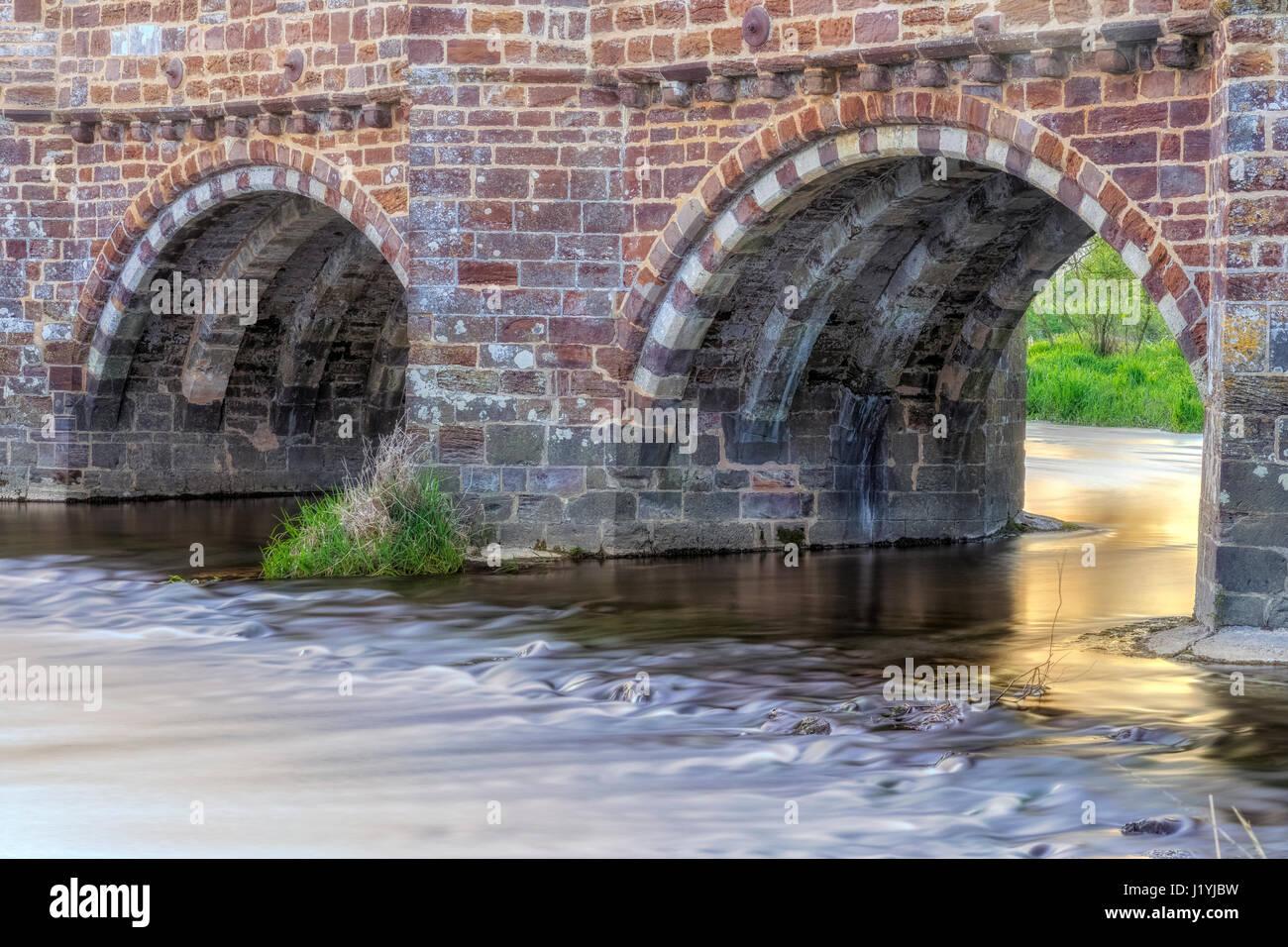 White Mill Bridge, Sturminster Marshall, Dorset, England, UK - Stock-Bilder