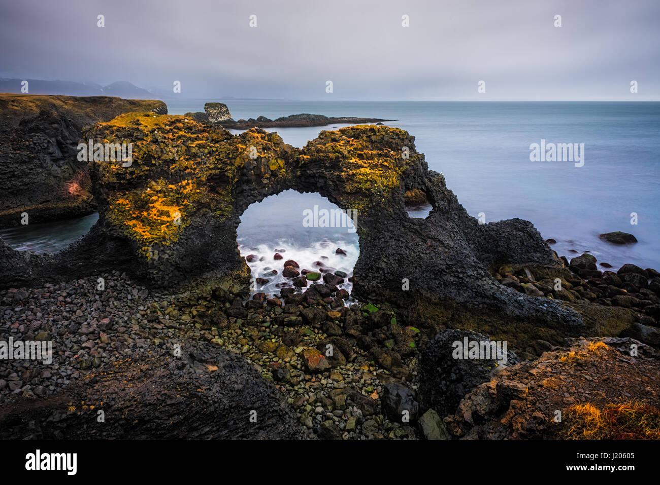 Gatklettur - Iceland - Stock Image