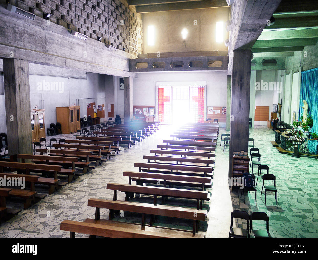 Modern church interior stock photos modern church for Michael j arlen living room war