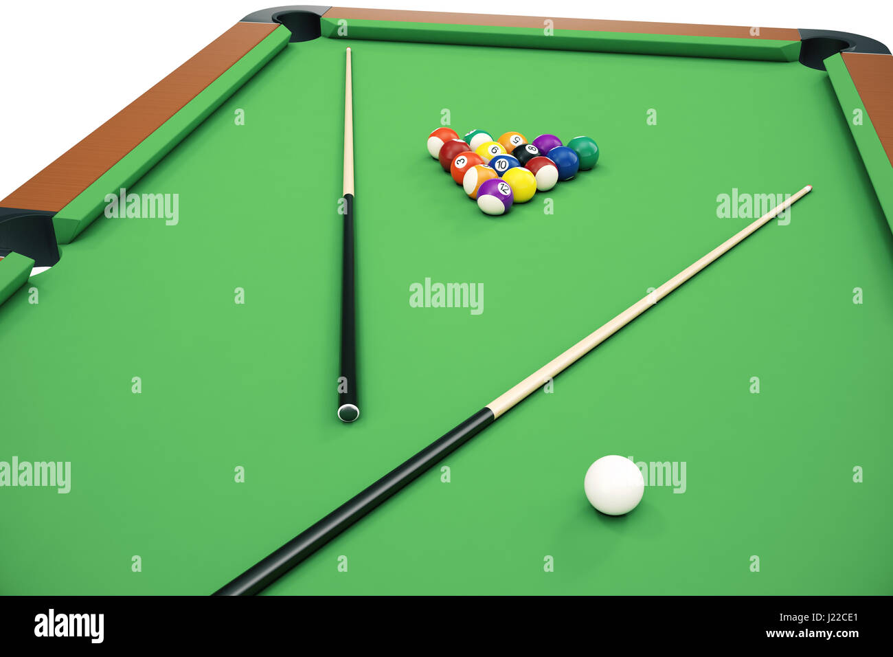 Pool Table Balls Scattered Snooker Ball Py...