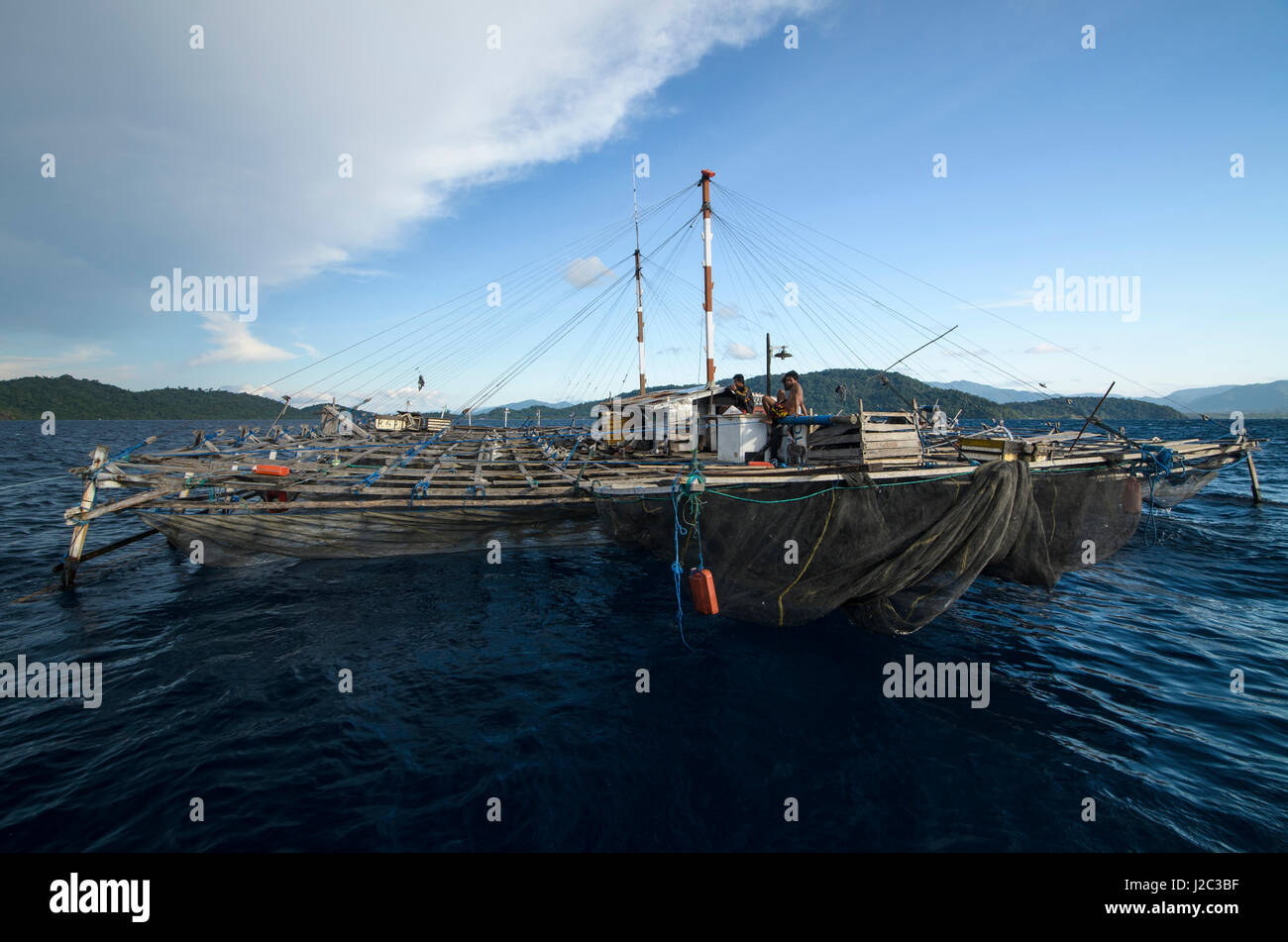 West indonesia stock photos west indonesia stock images for Floating fishing platform