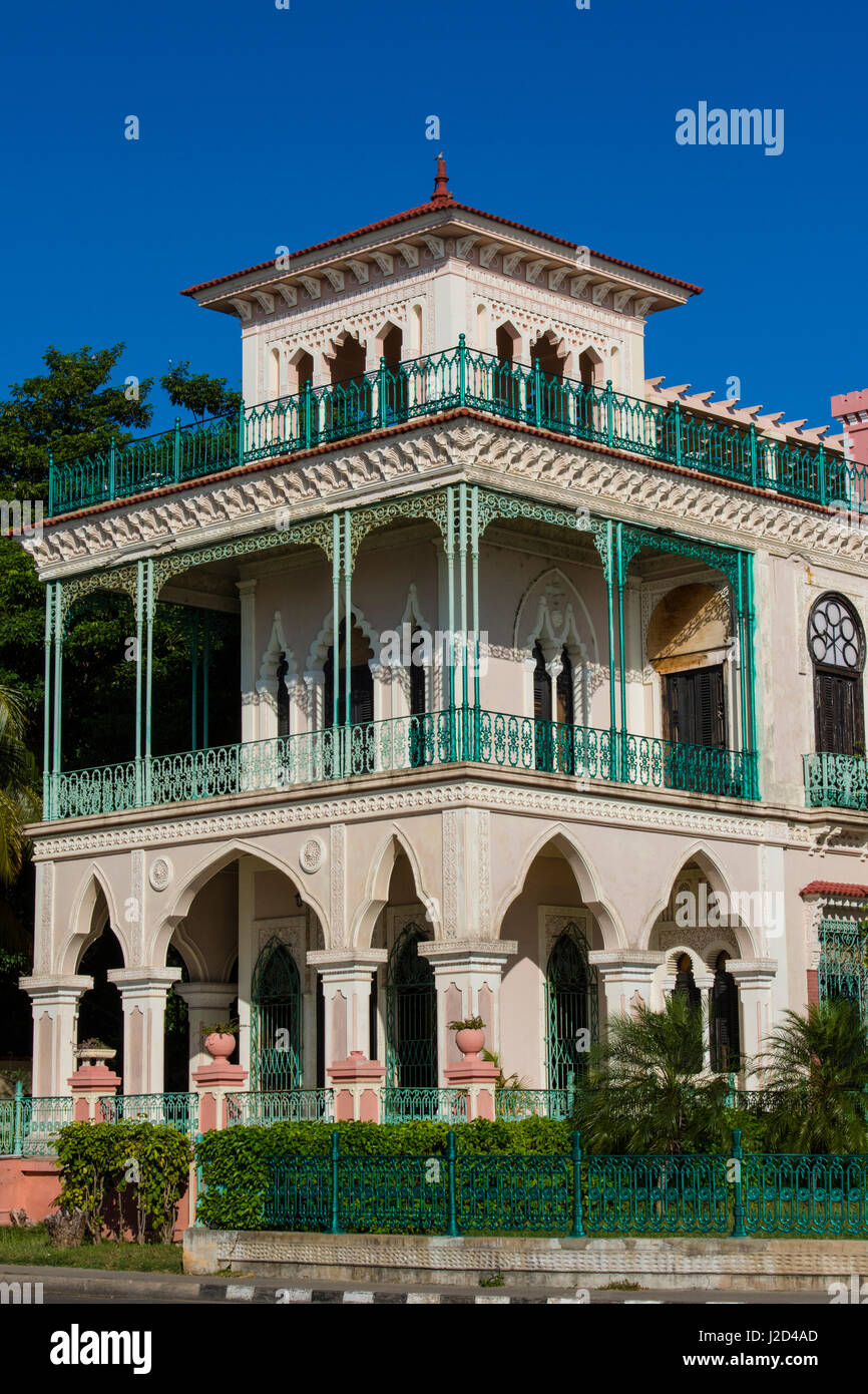 Cuba. Cienfuegos. Palacio de Valle, built in 1919 in an ornate Moroccan style, was a casino for many years. - Stock-Bilder
