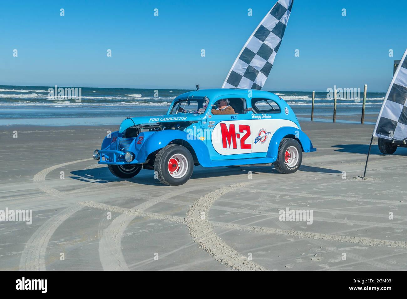 Antique NASCAR car, North Turn, Ponce Inlet, Florida, USA - Stock-Bilder