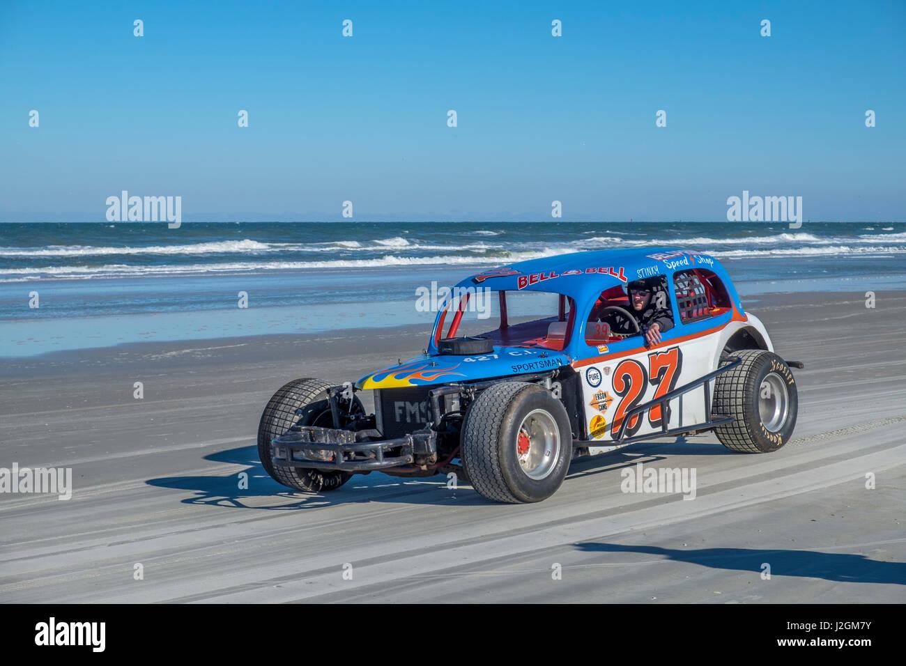 Antique NASCAR cars, North Turn, Ponce Inlet, Florida, USA - Stock-Bilder