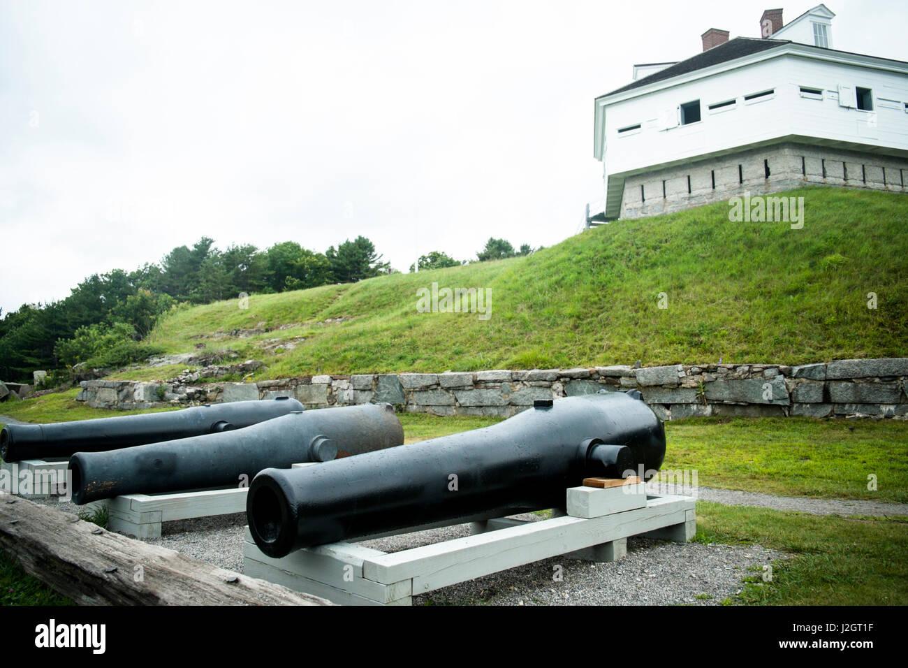 York, Maine, USA. Fort McClarry circa 1800's. - Stock-Bilder