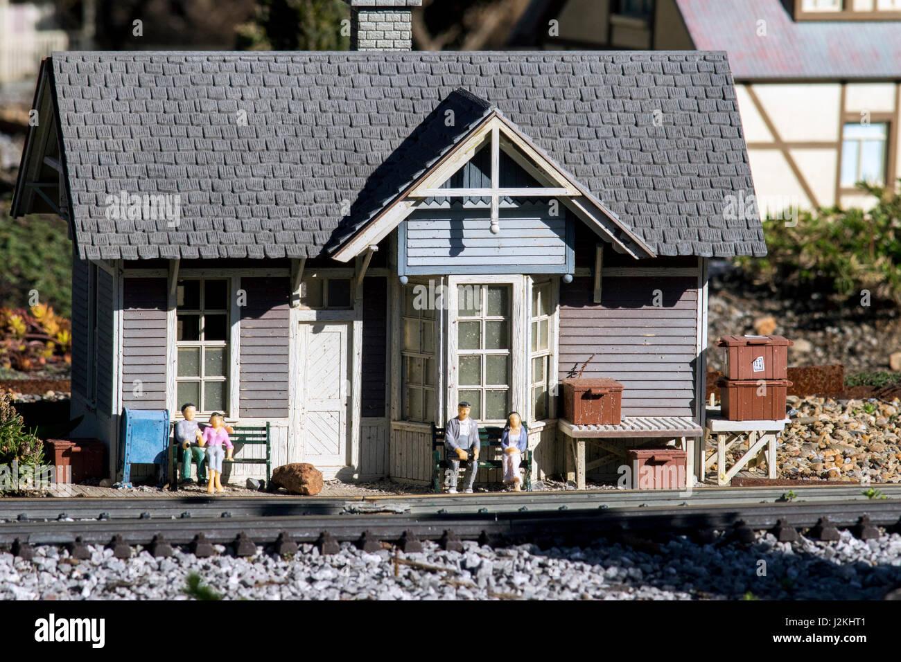 Rocky Cove Railroad Exhibit  - North Carolina Arboretum, Asheville, North Carolina, USA - Stock Image