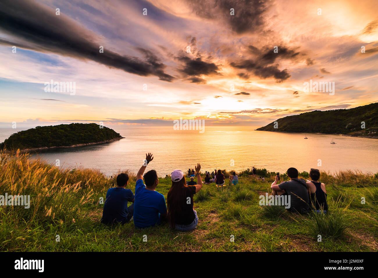 Watching Sunrise Tropical Beach Stock Photos & Watching ...