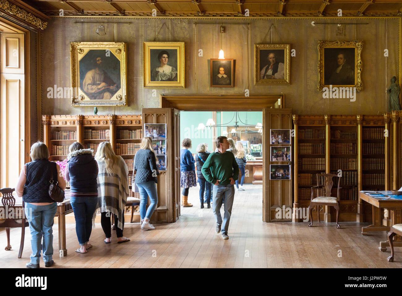 english stately home interior stock photos amp english