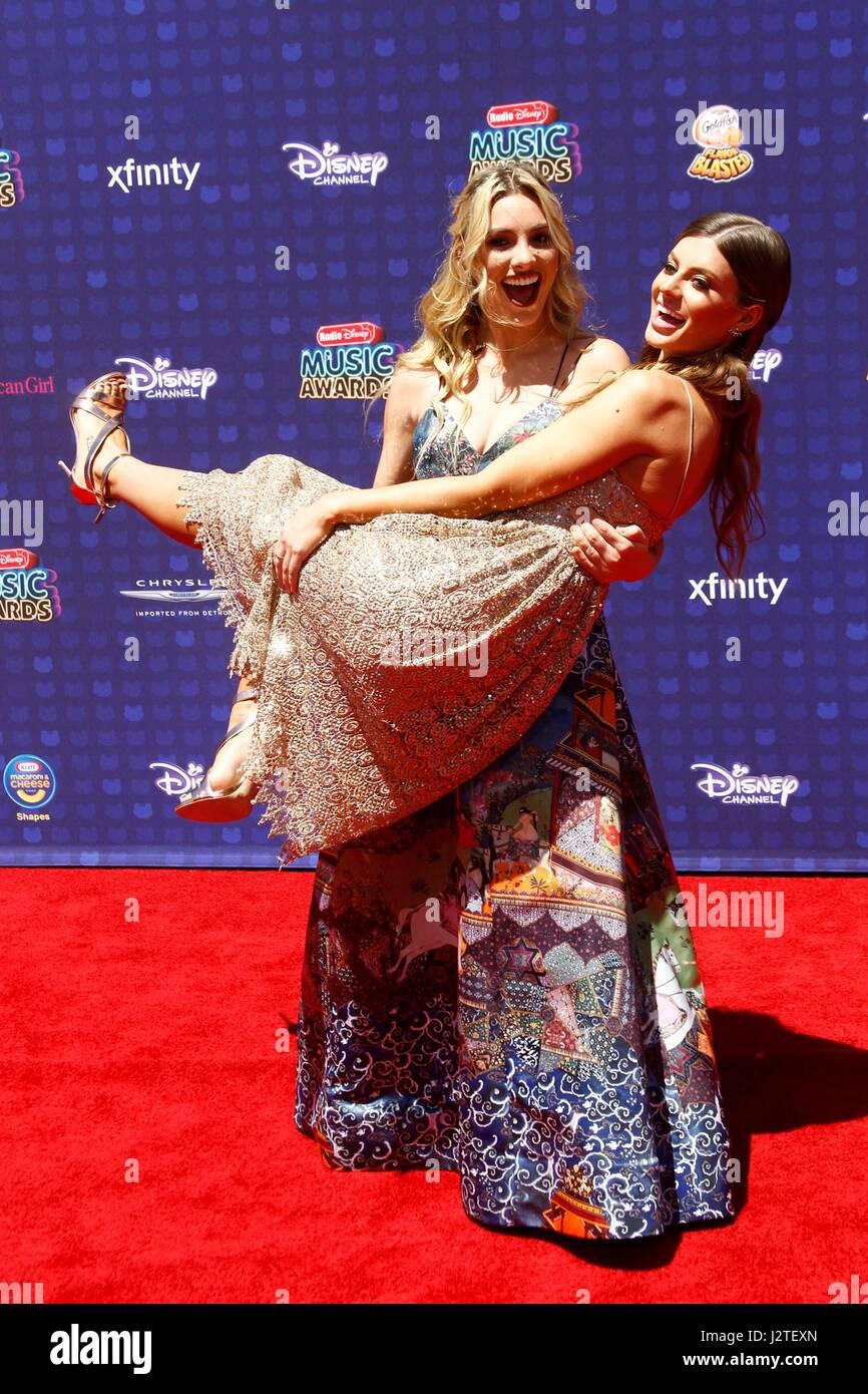 Lele Pons, Hannah Stocking at arrivals for Radio Disney Music Awards - ARRIVALS 2, Microsoft Theater, Los Angeles, - Stock-Bilder