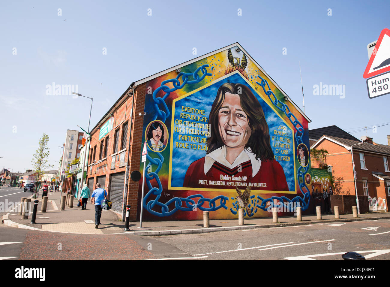 Ira mural stock photos ira mural stock images alamy for Bobby sands mural