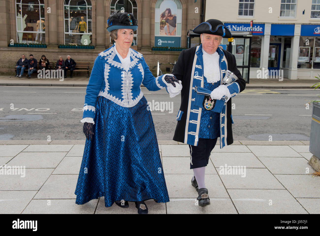 Peter and Joan Dauncey - Melksham. This event was originally part of the Blandford Forum Georgian Fayre for many - Stock Image