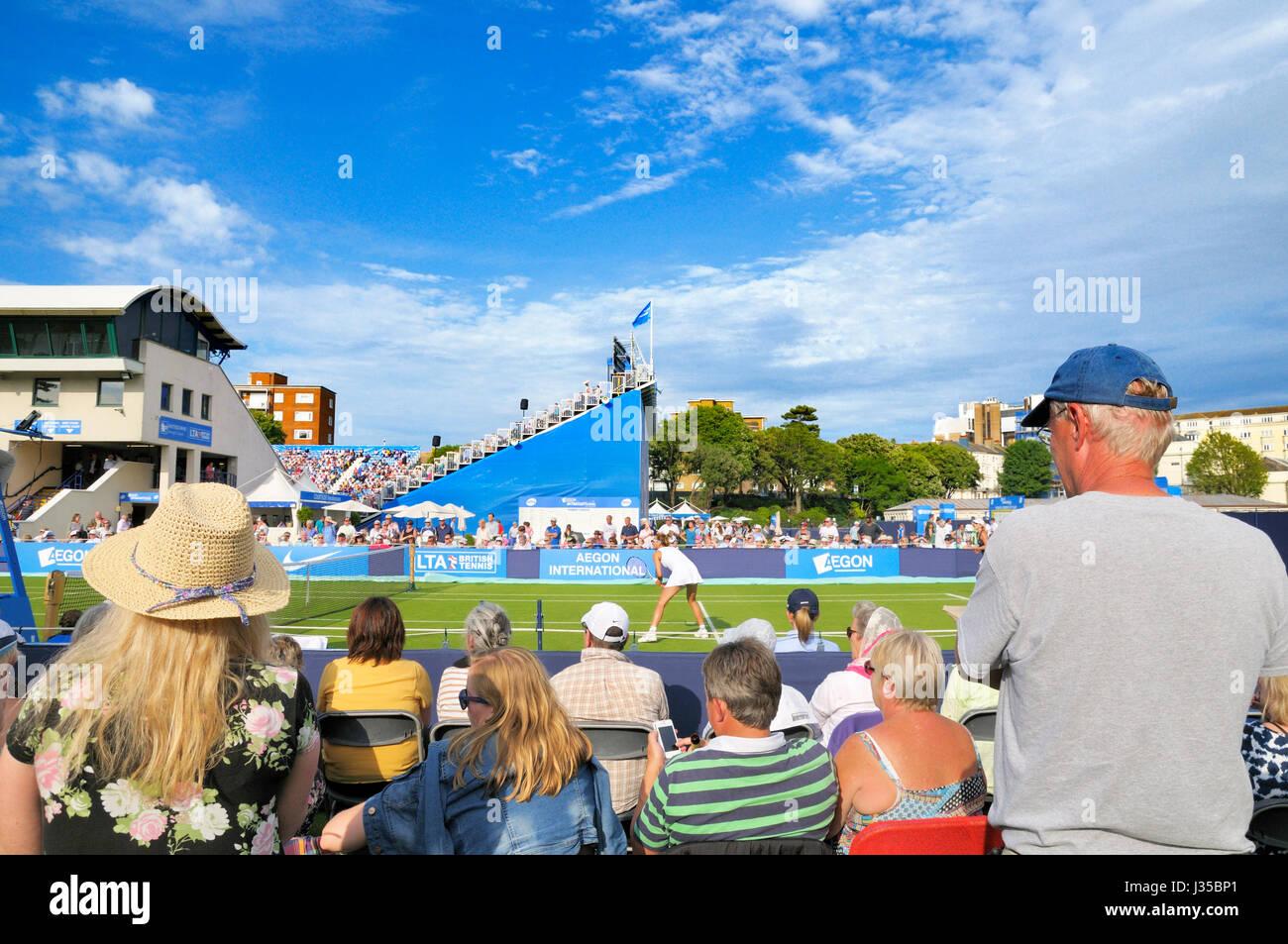 Aegon International Tennis Championships, Devonshire Park, Eastbourne, East Sussex, England, UK - Stock Image