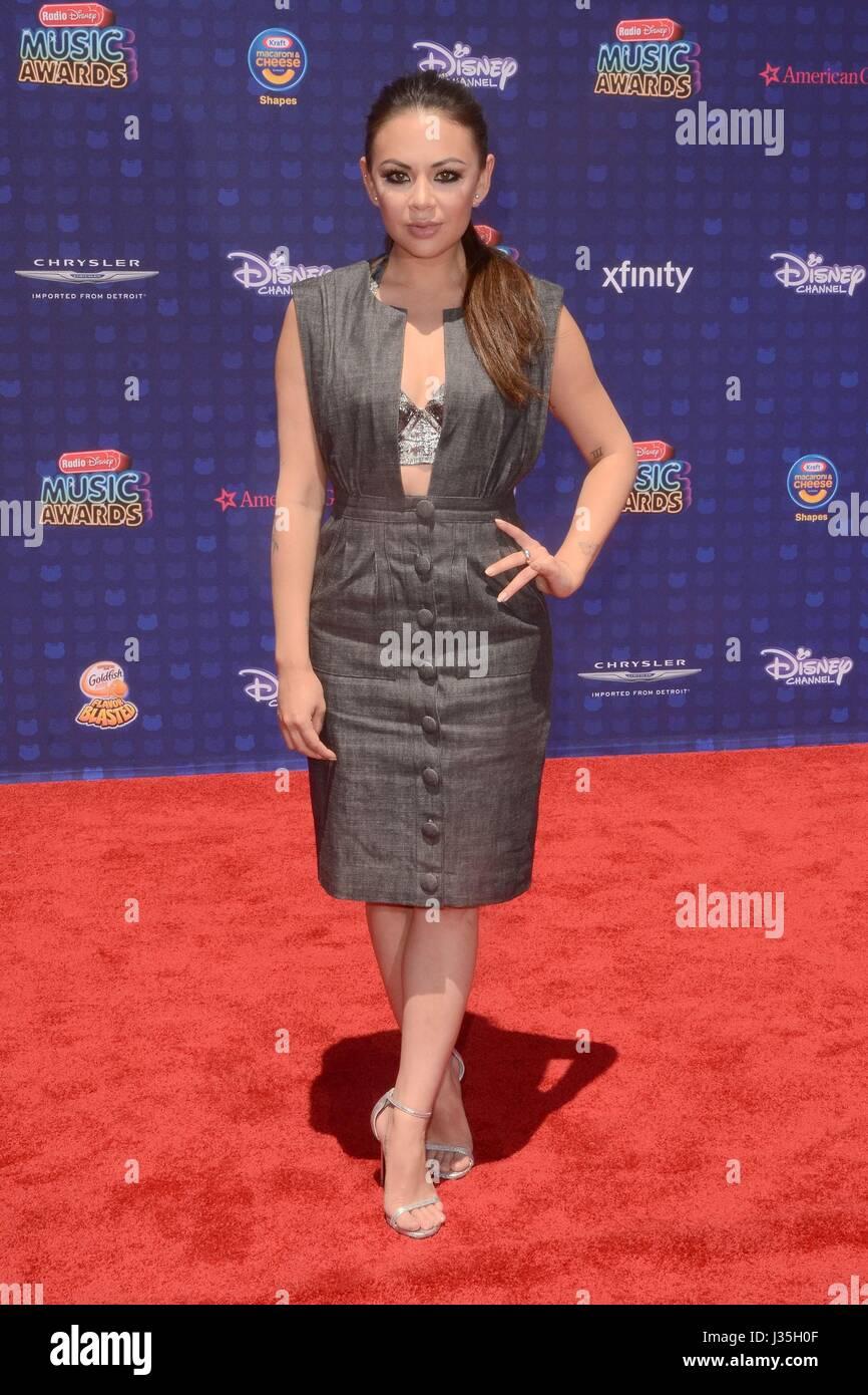 Janel Parrish at arrivals for Radio Disney Music Awards - ARRIVALS, Microsoft Theater, Los Angeles, CA April 29, - Stock-Bilder