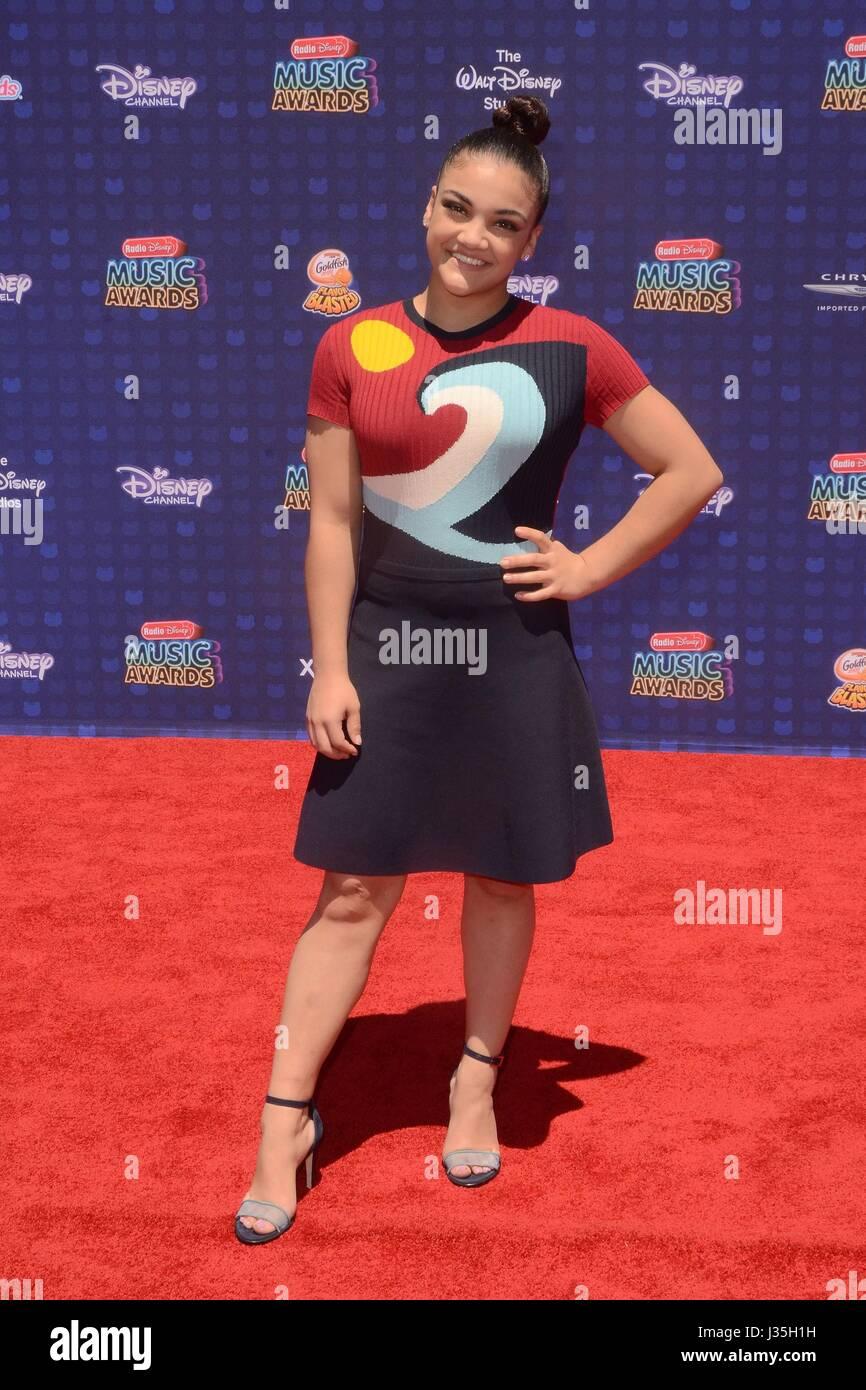 Laurie Hernandez at arrivals for Radio Disney Music Awards - ARRIVALS, Microsoft Theater, Los Angeles, CA April - Stock-Bilder