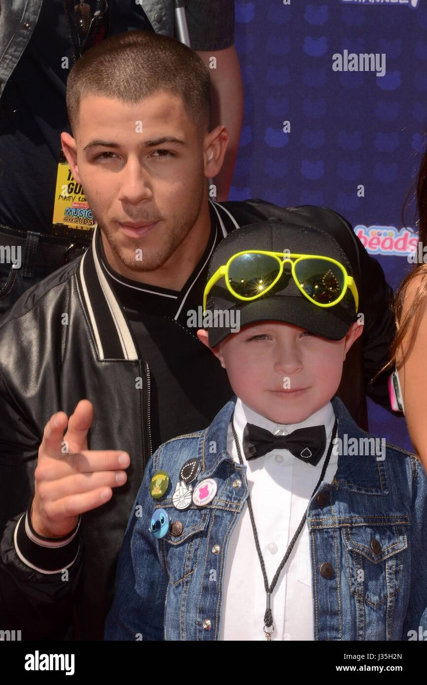 Nick Jonas, Guests at arrivals for Radio Disney Music Awards - ARRIVALS, Microsoft Theater, Los Angeles, CA April - Stock-Bilder