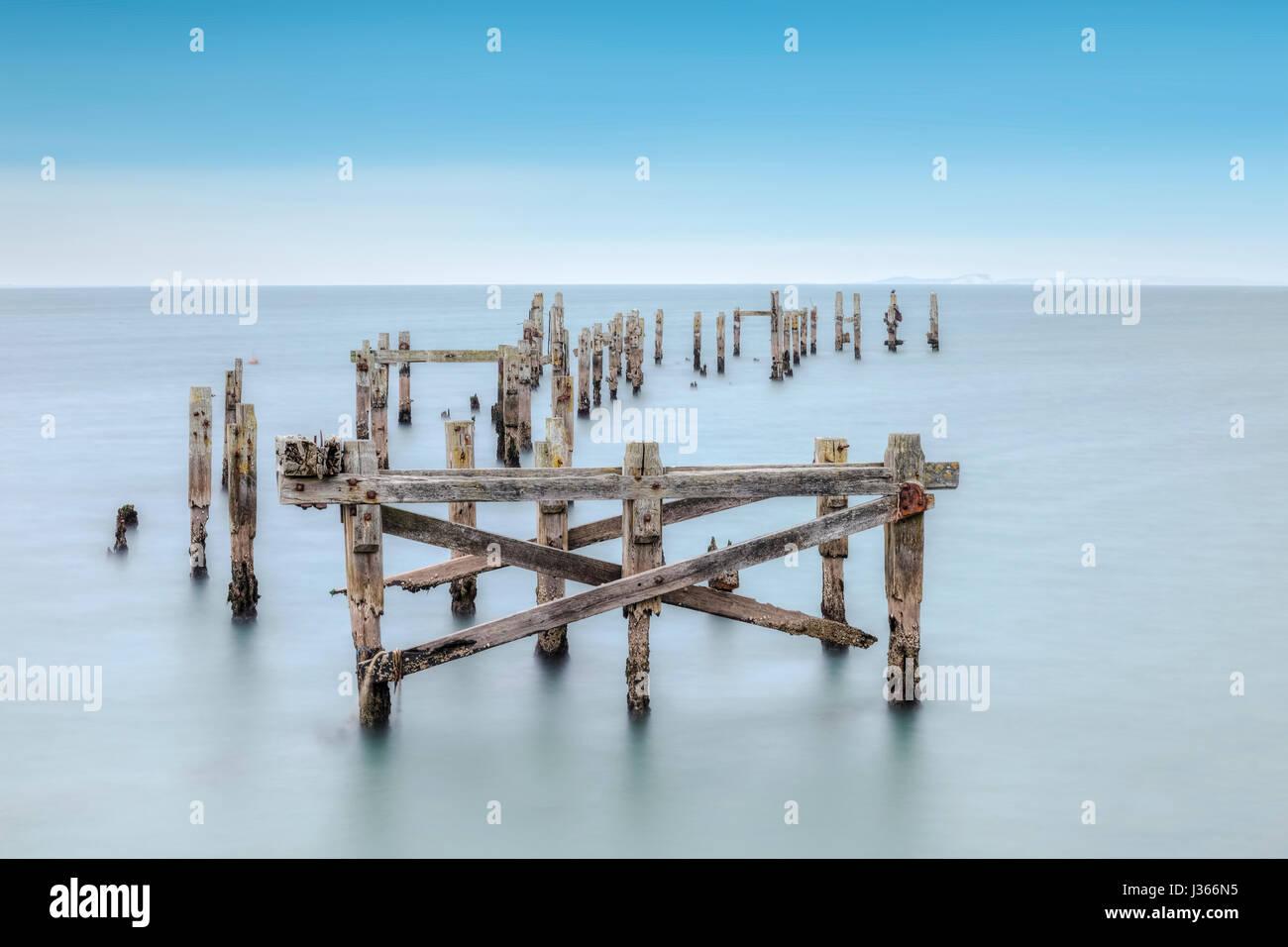 Swanage Pier, Purbeck, Dorset, England - Stock-Bilder