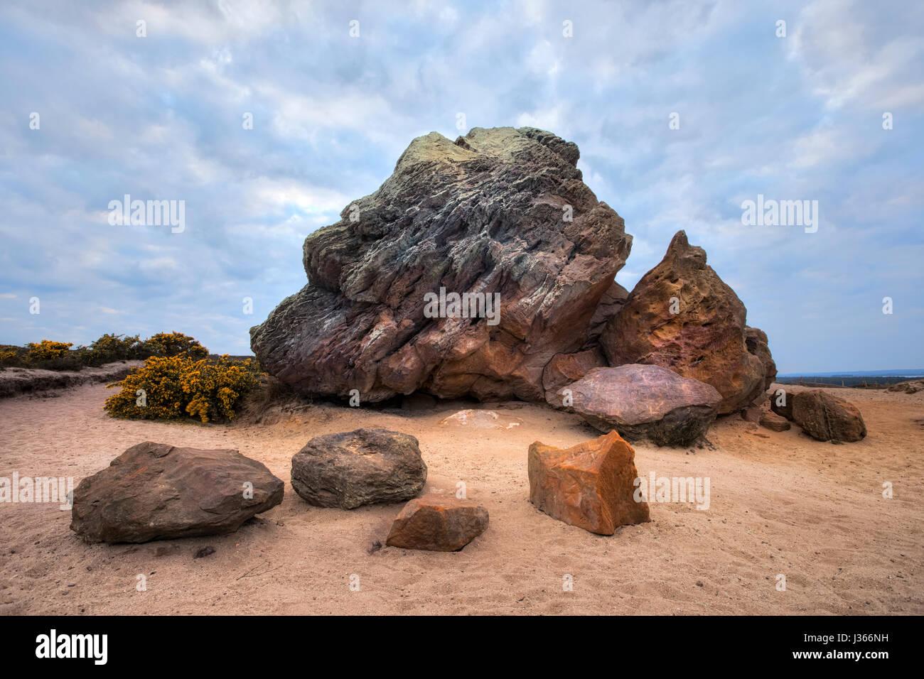 Agglestone Rock, Purbeck, Studland, Dorset, England - Stock-Bilder