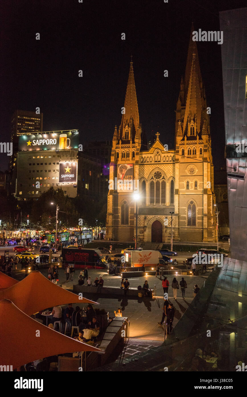 St Paul's Cathedral is an Anglican cathedral in Melbourne, Victoria, Australia. It is the cathedral church of - Stock-Bilder