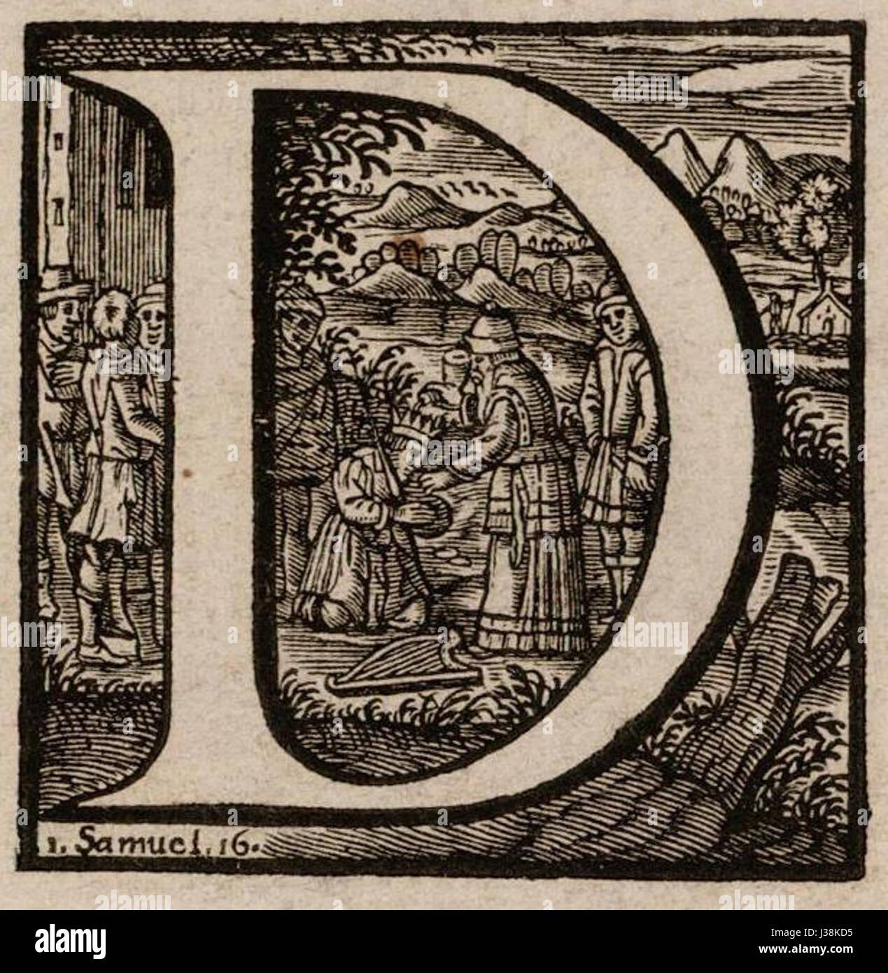 Cornelis anthonisz initiaal d - Stock Image
