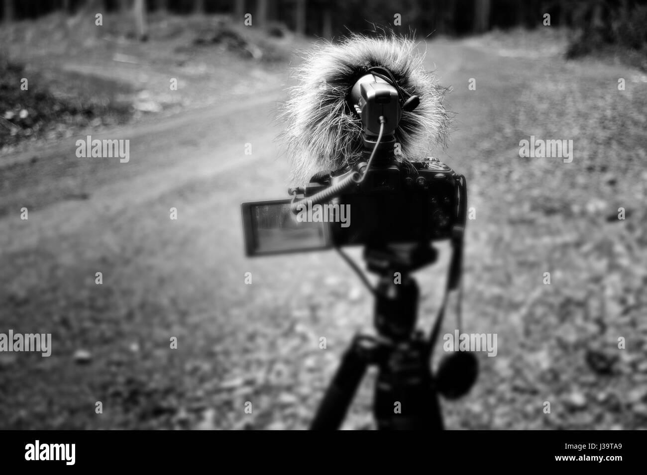 Behind-the-scenes: MTB video documentary - Stock-Bilder