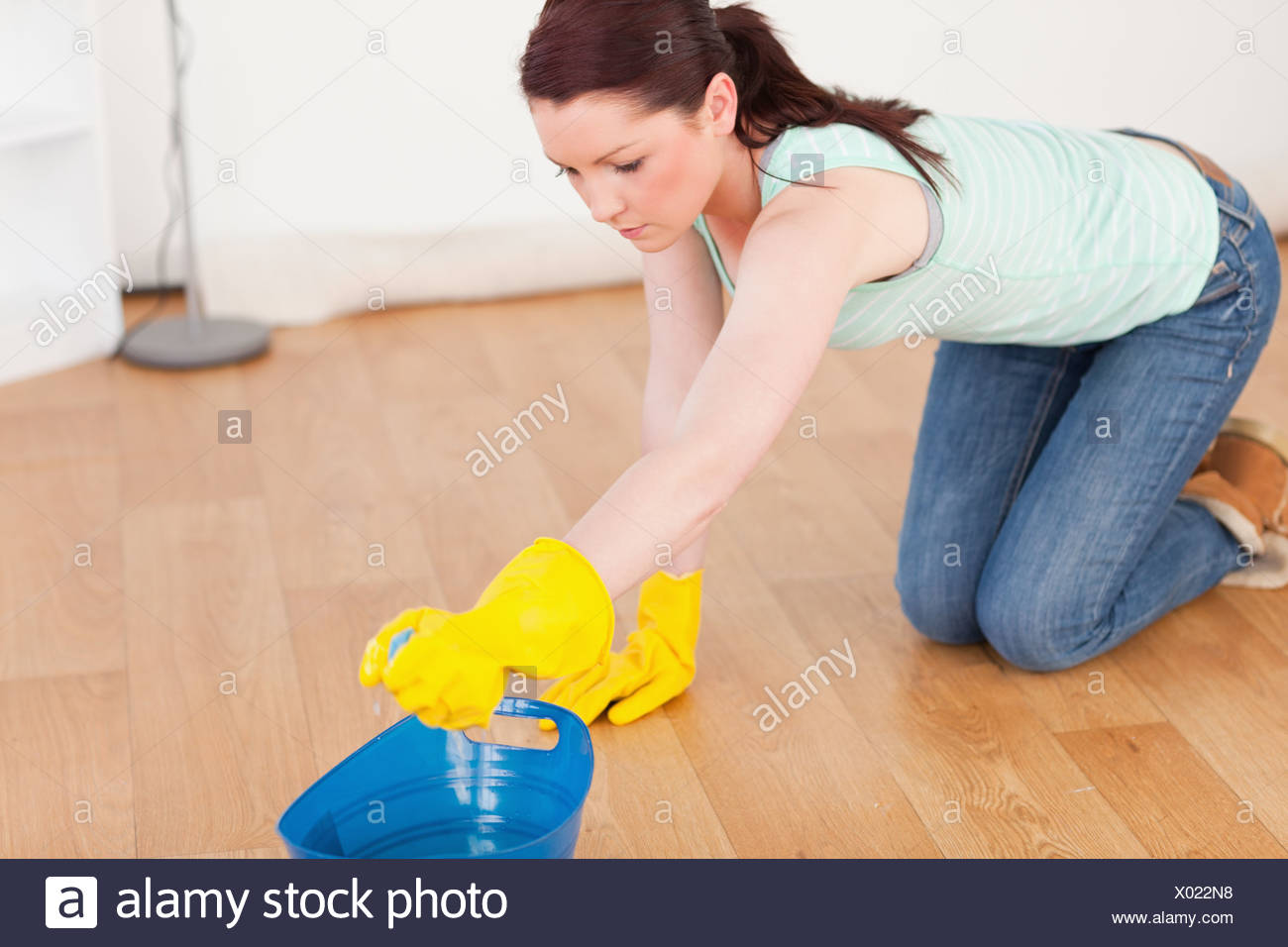 Woman Cleaning Floor Mop Stock Photos Amp Woman Cleaning