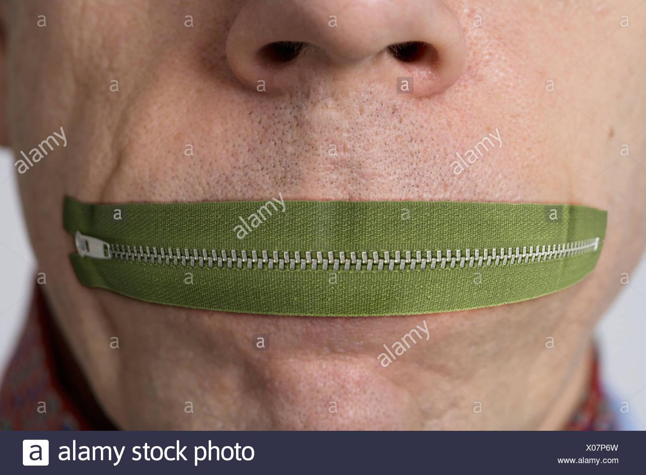 Zip Your Lip X P W on Zipped Mouth Cartoon