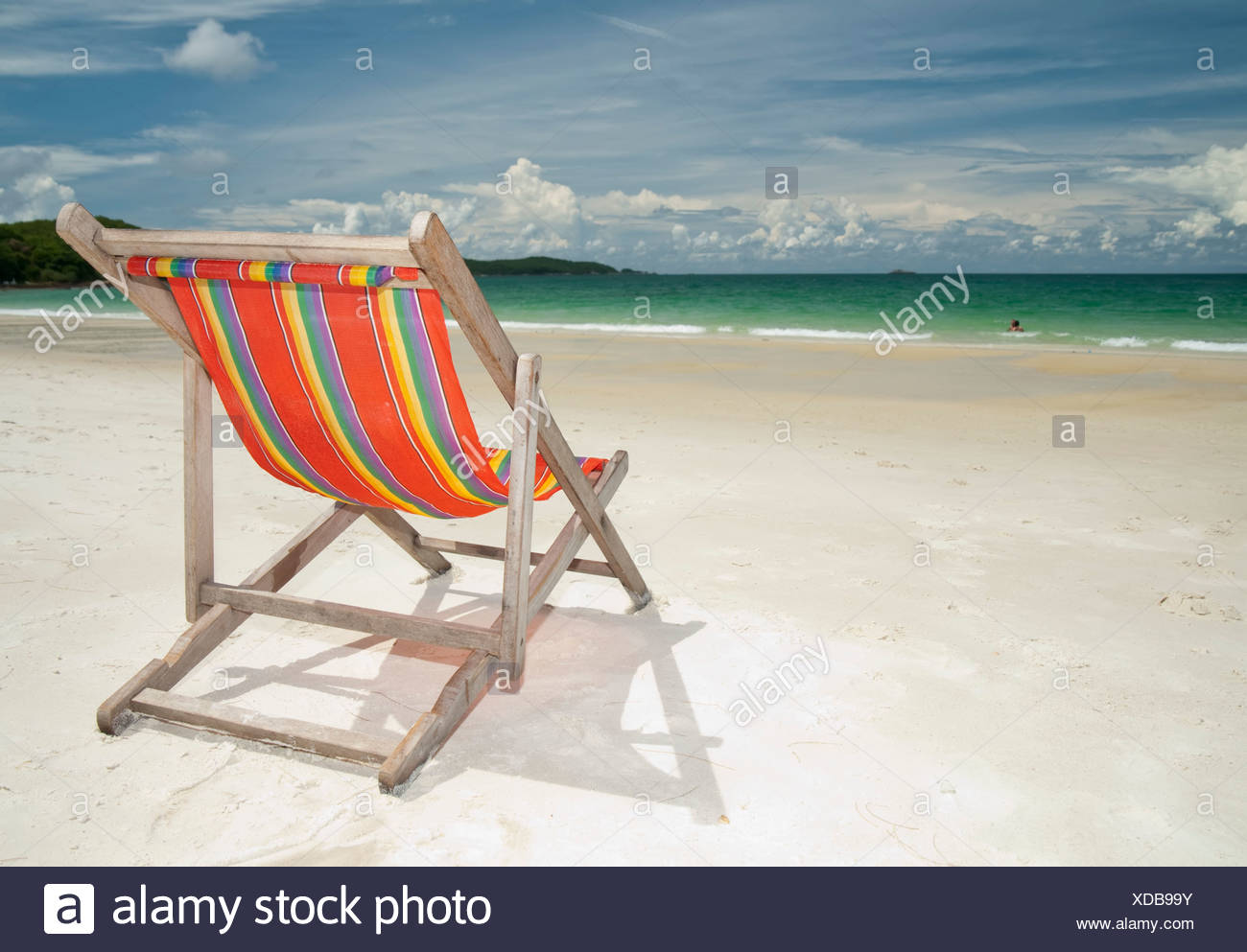 Deck chair white background stock photos deck chair for Table 99 koh samui