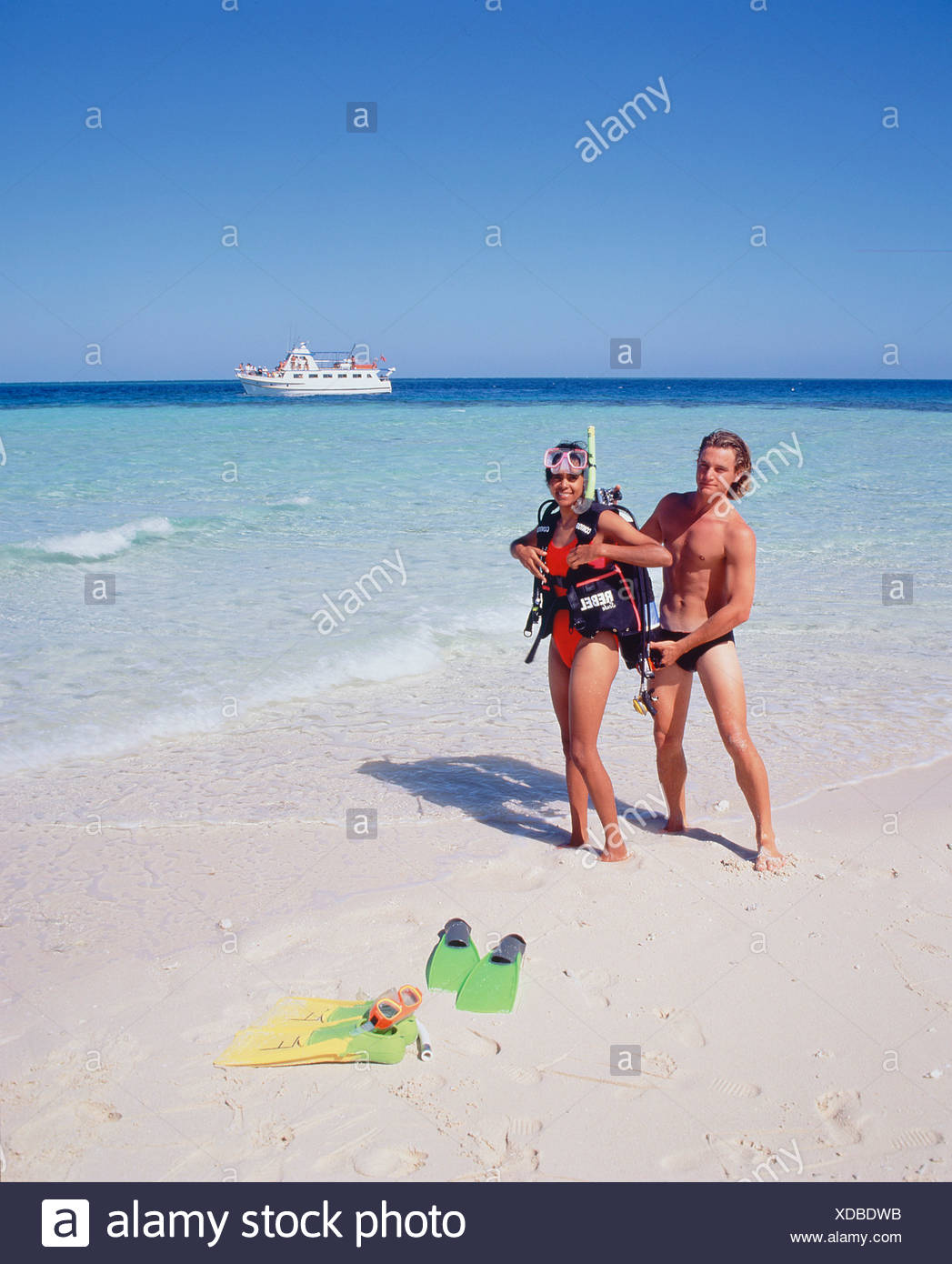 Woman Preparing For Scuba Diving Stock Photos & Woman ...