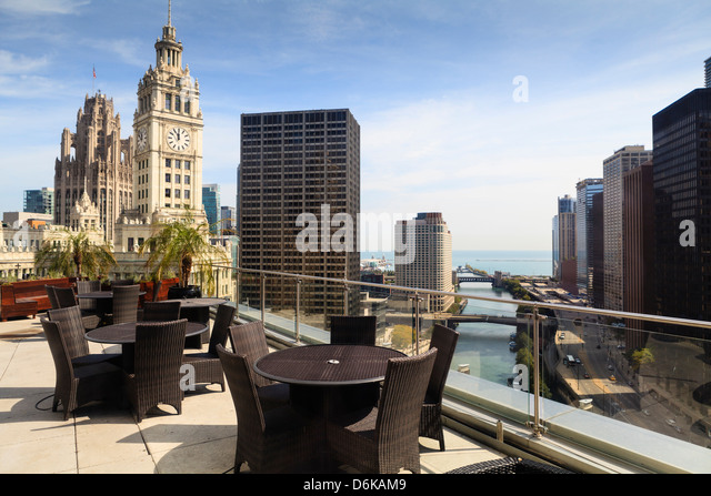 View from Trump Tower Hotel, Chicago, Illinois, United States of America, North America - Stock Image