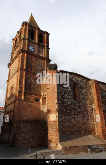 The Church of Our Lady of Miracles (Iglesa Nuestra Senhora de los Milagros) at Balneario Alange in Spain. - Stock Image