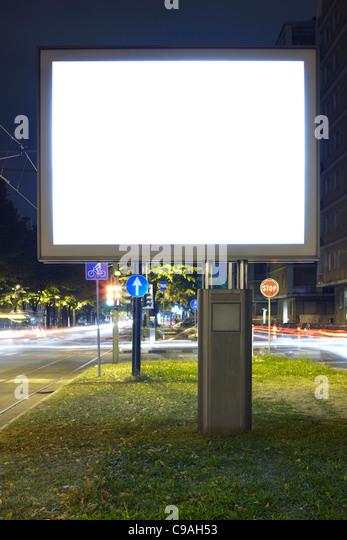 Blank billboard screen - Stock Image