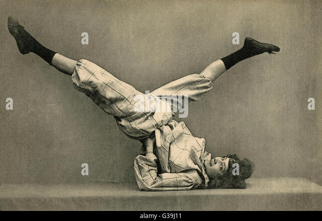She shows off her agility         Date: circa 1905 - Stock Image