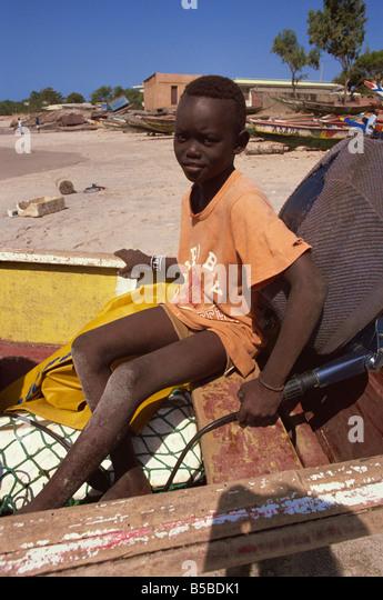 Local boy Dakar Senegal West Africa Africa - Stock Image