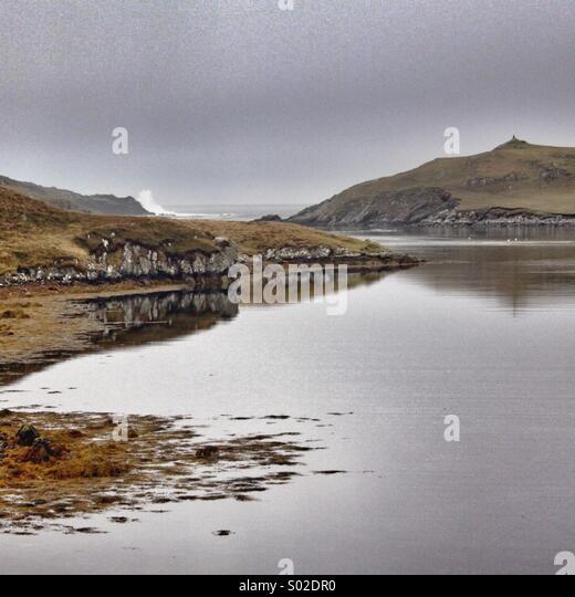 Mavis Grind, North Mavine, Shetland Isles.... - Stock Image