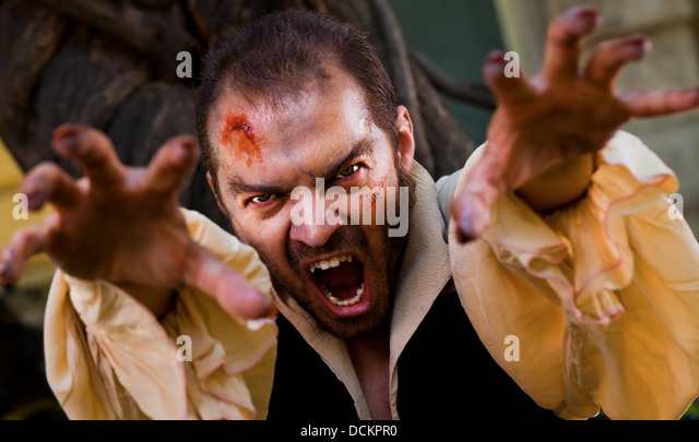 Evil male vampire - Stock Image