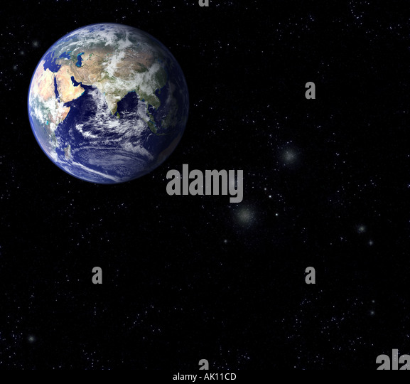 Satellite Image of The Earth Arabia and asia prominent Earth from Space - Stock Image