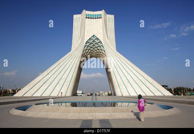 The Azadi Tower, or King Memorial Tower, Tehran, Iran - Stock Image