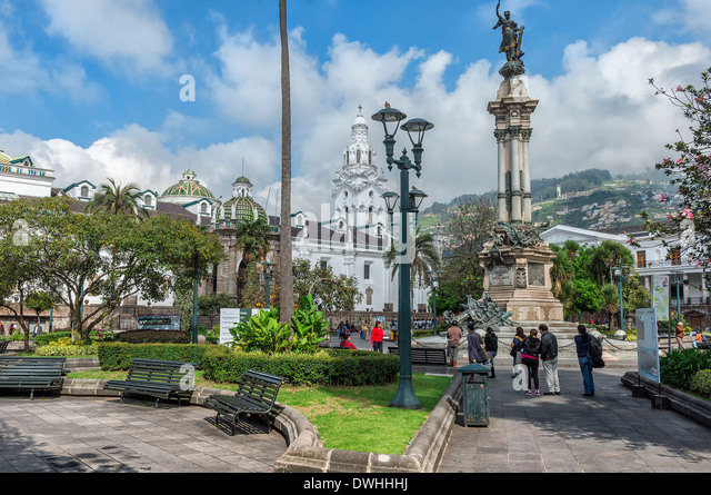 Quito - Independence square - Stock Image